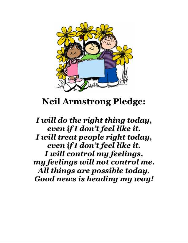 Neil Armstrong Pledge