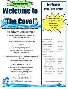 The Cove Ext Day flyer
